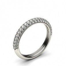Round Platinum Anniversary Diamond Rings