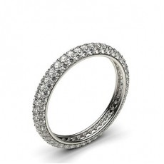 Round Platinum Diamond Rings