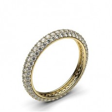 Round Yellow Gold Full Eternity Diamond Rings