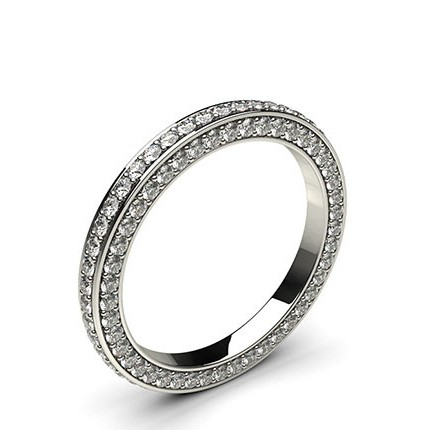 Buy 240mm Pave Setting Full Eternity Diamond Ring Online UK