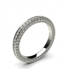 2.40mm Pave Setting Full Eternity Diamond Ring