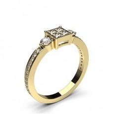 Formes Mixtes Or Jaune Bague Diamant