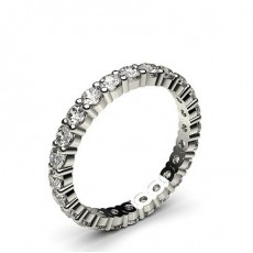 Prong Setting Full Eternity Diamond Ring