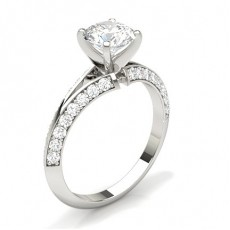 White Gold Side Stone Diamond Engagement Rings