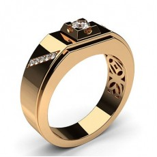 Rose Gold Men's Diamond Rings