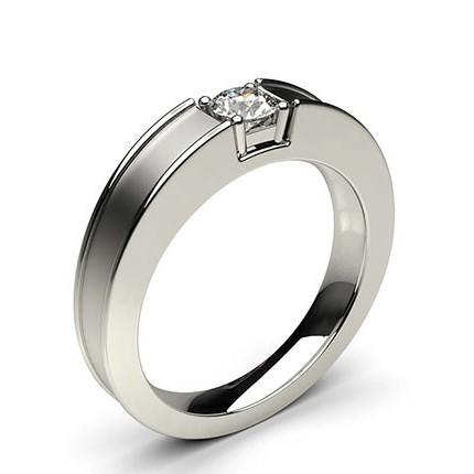 nouveau concept 16671 4ce15 Bague homme diamant princesse serti clos en 0.30ct