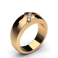 Rose Gold Mens Diamond Rings