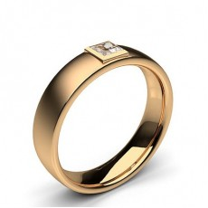 Princess Rose Gold Mens Diamond Rings