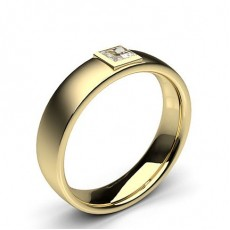 Princess Yellow Gold Mens Diamond Rings