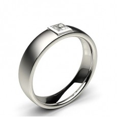 Full Bezel Setting Princess Diamond Mens Ring