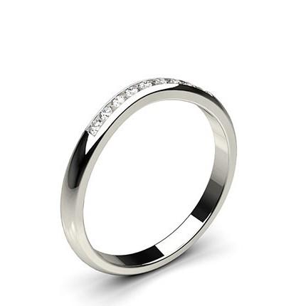 2.00mm Studded Flat Profile Diamond Shaped Band