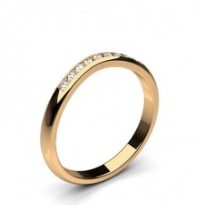 2.00mm Studded Flat Profile Diamond Shaped Band