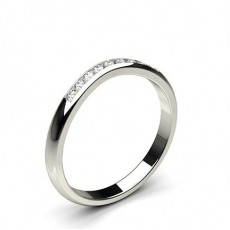 Women: Shaped Wedding Bands Rings
