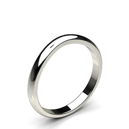 2.00mm Flat Profile Plain Shaped Wedding Band