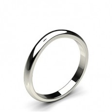 2.00mm Low Dome Profile Plain Shaped Wedding Band