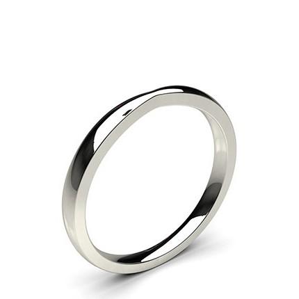 1.70mm Flat Profile Plain Shaped Wedding Band
