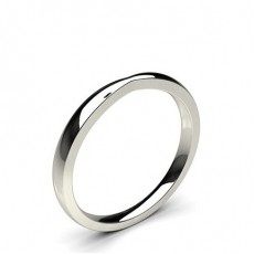 1.70mm Flat Profile Plain Shaped Wedding Band