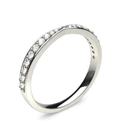 1.80mm Studded Flat Profile Diamond Shaped Band