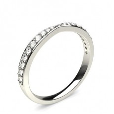 1.80mm Studded Flat Profile Diamond Shaped Band