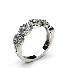 4 Prong Setting Round Diamond Fashion Ring