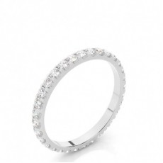 Round White Gold Full Eternity Diamond Rings