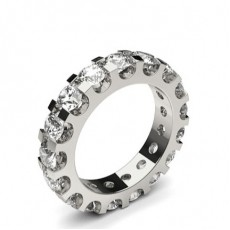 Illusion Setting Full Eternity Diamond Ring