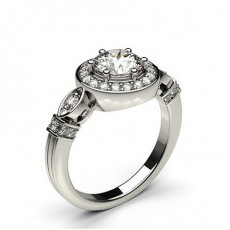 White Gold Vintage Diamond Engagement Ring
