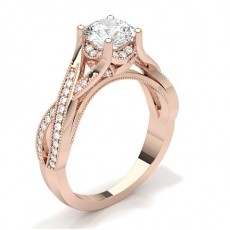 Rose Gold Vintage Diamond Engagement Ring