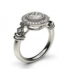 Platinum Contemporary Diamond Engagement Rings