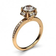 Vintage Rose Gold Diamond Engagement Rings