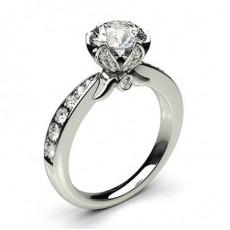 Bague de fianç aille vintage é paulé e diamant princesse serti 4 griffes avec alliance accordé e