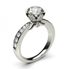 Prong Setting Studded Engagement Ring