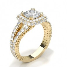 Princess  Vintage Engagement Rings