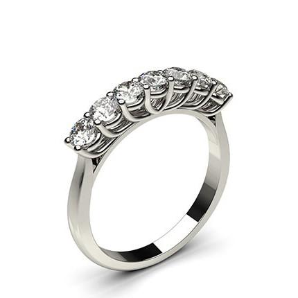 4 Prong Setting Plain Seven Stone Ring