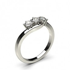 Round  3 Stone Diamond Rings