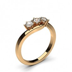 Rose Gold Trilogy Diamond Engagement Rings
