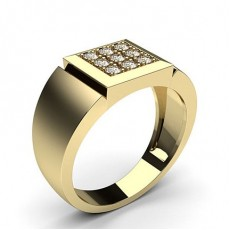 Yellow Gold Mens Diamond Rings