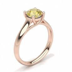 Pear Rose Gold Yellow Diamond Engagement Diamond Engagement Rings