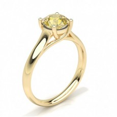 Pear Yellow Gold Yellow Diamond Rings