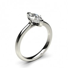 Marquise  Solitaire Diamond Engagement Rings