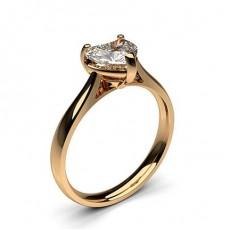Heart Rose Gold Diamond Engagement Rings
