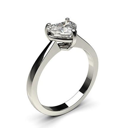 3 Prong Setting Plain Engagement Ring
