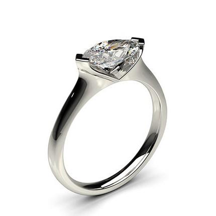 2 Prong Setting Plain Engagement Ring