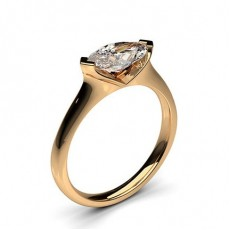 Marquise Rose Gold Diamond Rings