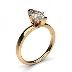 Marquise Rose Gold Solitaire Diamond Rings