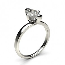 Marquise Platinum Solitaire Diamond Rings