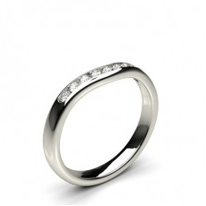 2.30mm Studded Flat Profile Diamond Shaped Band