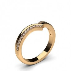 Round Rose Gold Shaped Women's Wedding Bands