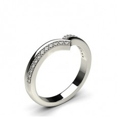 1.60mm Studded Flat Profile Diamond Shaped Band
