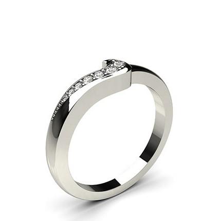 1.60mm Studded Flat Profile Diamond Shaped Band